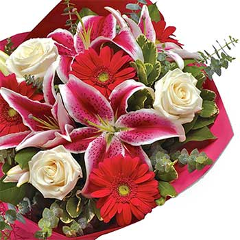 Buy lily the pink flower bouquet