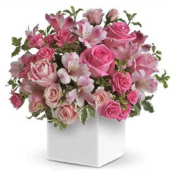 Box of Soft Feminine Flowers for Mothers Day