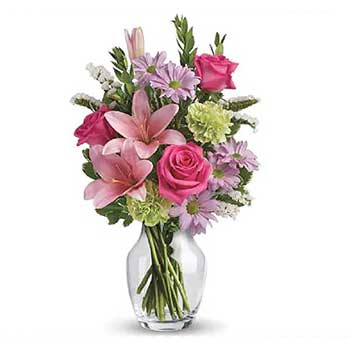 Send vase full of mixed mothers day flowers