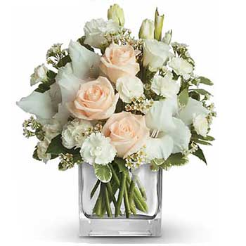 Send adorable pastel flowers in a vase