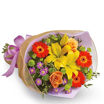 Mixed Flowers Bouquet In The Groove