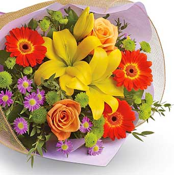 Buy mixed flowers bouquet In The Groove