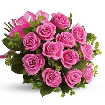 Send perfect pink rose bouquet