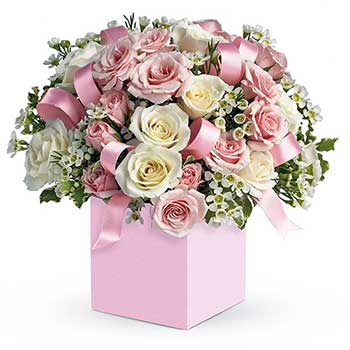 Send pretty in pink new baby girl flowers