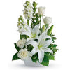 Send pure simplicity comforting white funeral flowers