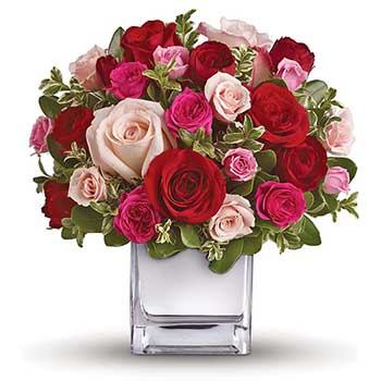 Buy romantic mixed rose vase | Best seller