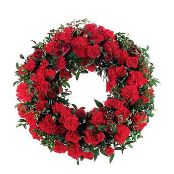 Red ANZAC Wreath Remembrance Flowers