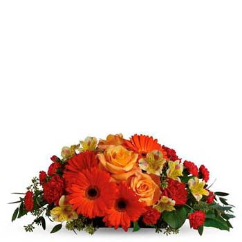 Buy orange delight table flower arrangement