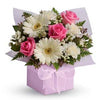 Send sweet soft feminine accented flower gift box