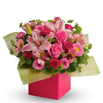Send the prettiest ever pink flower gift box | Softest whispers
