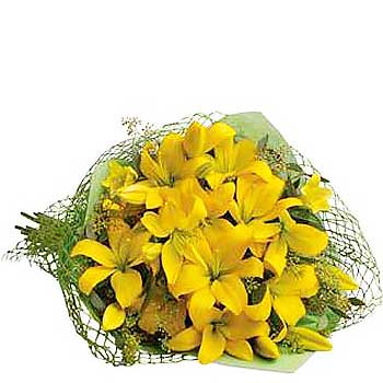 Send bouquet of sunshine yellow flowers