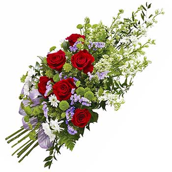Send sympathy tribute traditional funeral flowers