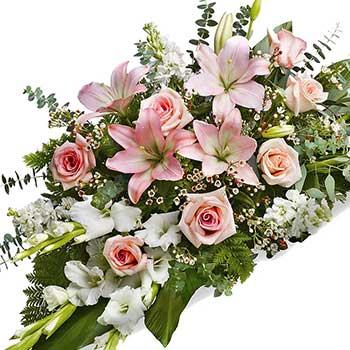 Send warm thoughts sympathy sheaf funeral flowers