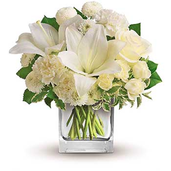 White Perfection Table Flower Arrangement