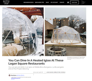 Thunder Domes featured on Block Club Chicago