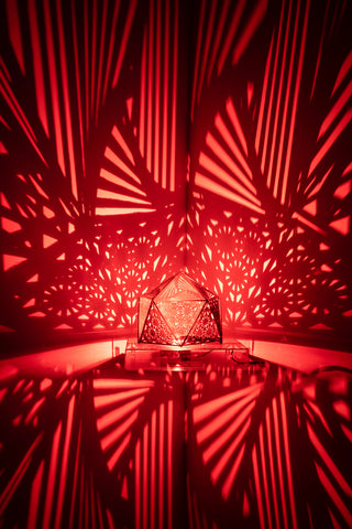 Spiral Tetrahedron Shadow Lamp