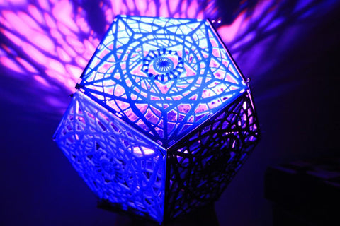 12 Sided Shadow Lamp Shade Sacred Geometry Pattern With RGB LED Light and Controller
