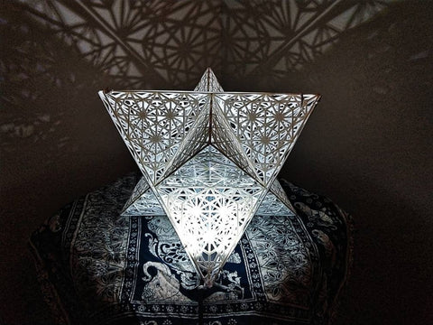 Star Tetrahedron Sacred Geometry Shadow Lamp