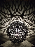 12 Sided Shadow Lamp Shade Sacred Geometry Voronoi Pattern With RGB LED Light and Controller