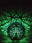 2 Sided Shadow Lamp Shade Sacred Geometry Voronoi Pattern With RGB LED Light and Controller