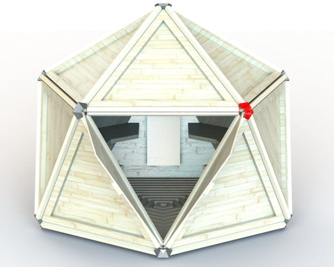 1v Geodesic Dry Sauna Dome
