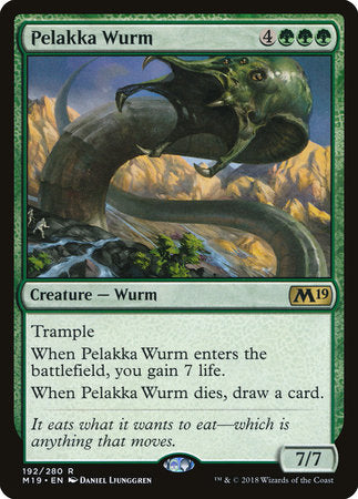 Pelakka Wurm [Core Set 2019] | Rook's Games and More