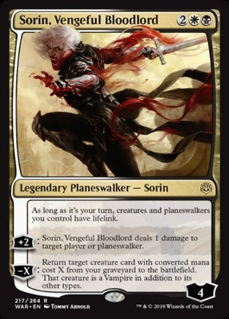 Sorin, Vengeful Bloodlord [War of the Spark] | Rook's Games and More