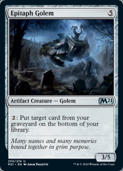 Epitaph Golem [Core Set 2021] | Rook's Games and More