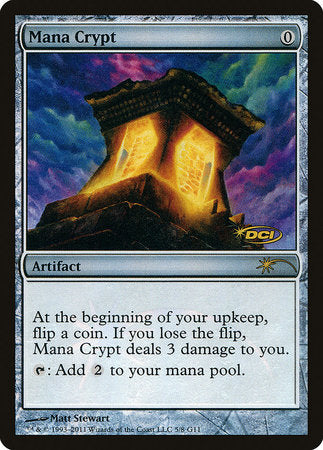 Mana Crypt [Judge Gift Cards 2011] | Rook's Games and More