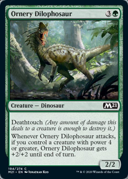 Ornery Dilophosaur [Core Set 2021] | Rook's Games and More