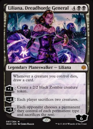 Liliana, Dreadhorde General [War of the Spark] | Rook's Games and More