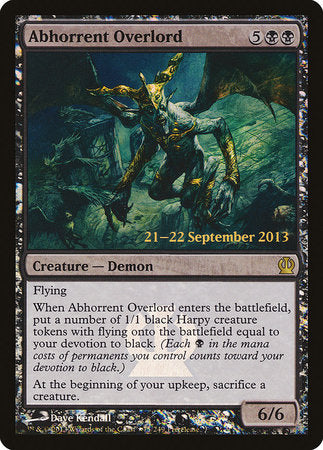Abhorrent Overlord [Theros Promos] | Rook's Games and More