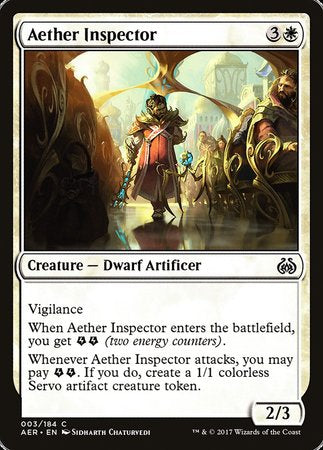 Aether Inspector [Aether Revolt] | Rook's Games and More