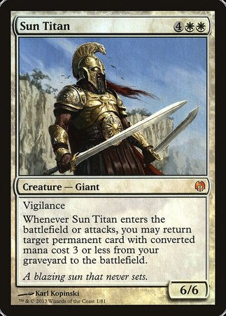 Sun Titan [Duel Decks: Heroes vs. Monsters] | Rook's Games and More