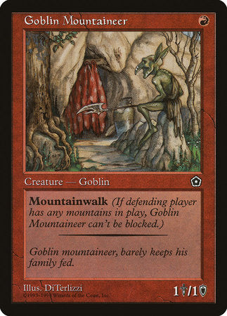Goblin Mountaineer [Portal Second Age] | Rook's Games and More