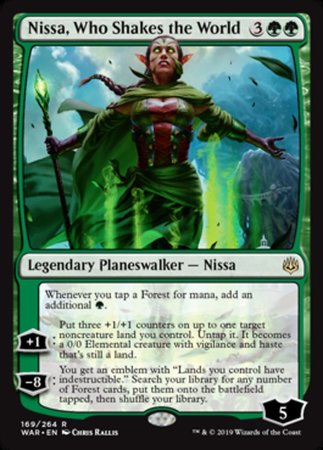 Nissa, Who Shakes the World [War of the Spark] | Rook's Games and More