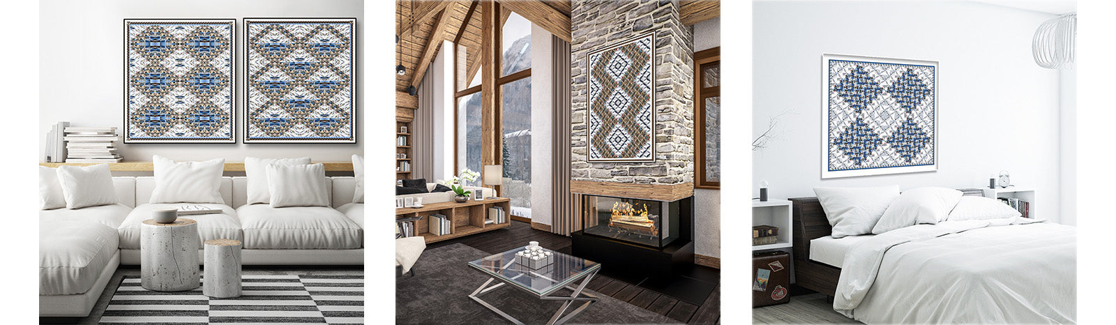 Cabin Fever Series - Ski art for mountain homes by Hooey Mountain