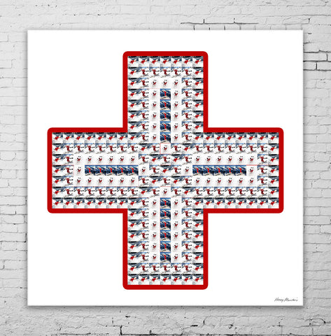 Red Cross made from Hooey Mountain images