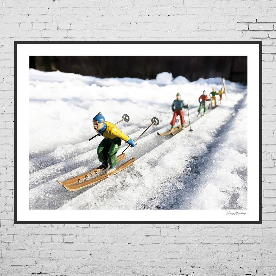 Vintage Toy Skier Photos of Racers for gifts by Hooey Mountain