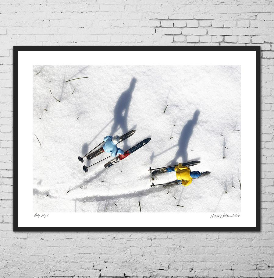 Vintage Toy Skiers with Shadow photo as gifts by Hooey Mountain