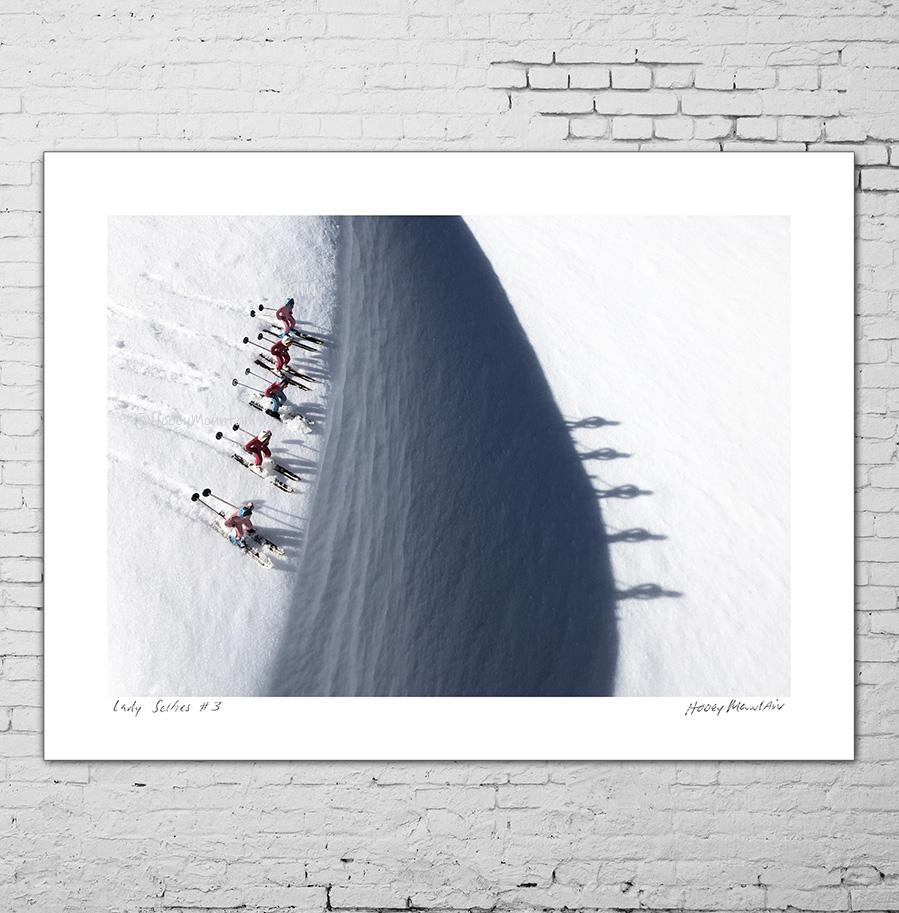 Vintage toy skiers and their shadows. Photo by Hooey Mountainintage toy skiers and their shadows. Photo by Hooey Mountain