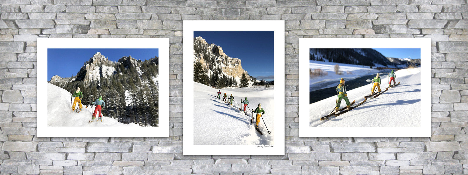 vintage toy skier photo pairing by Hooey Mountain