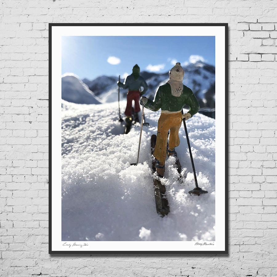 Vintage Toy Backcountry Skiers photo by Hooey Mountain