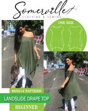 Landslide Drape Top ~ PDF Digital Download