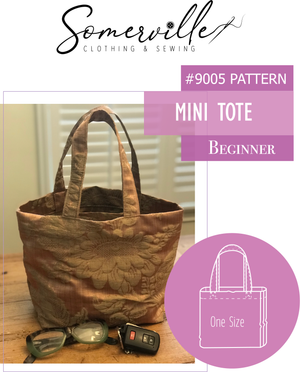 Mini Tote Pattern ~ PDF Digital Download
