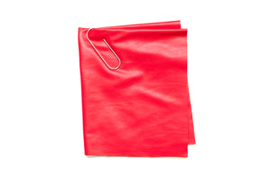 Stretch Faux Leather - Red