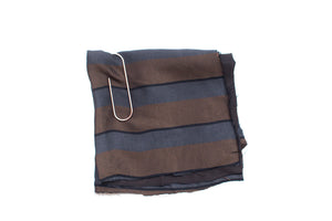 Light Weight Striped Fabric - Charcoal, Brown & Black