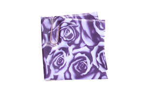 Stretch Foil Print - Purple Roses