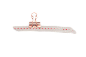 Natural & Red Single Stitched Ribbon - 3/4""