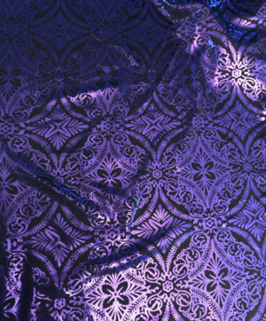 Stretch Purple Diamond Print